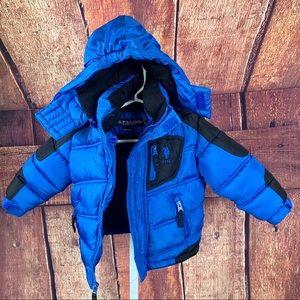 US POLO Boy's Bubble Jacket w/fleece lined hood 3T